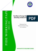 PIDE - The Effect of Foreign Remittance on Schooling in Pakistan