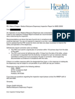 Medical Marijuana Dispensary Inspection Report for 1st Choice Cannabis Farmacy OMMP