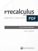 paul a foerster precalculus with trigonometry concepts and applications