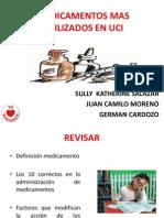 MEDICAMENTOS MAS UTILIZADOS EN UCI2012.ppt