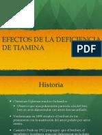 Deficiencia de Tiamina