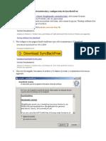 Manual de Instalación y Configuración de SyncBack