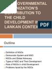 Non Governmental Organization's Contribution to the Child Development