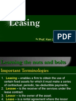 Leasing as taken from BASFIN2 lecture