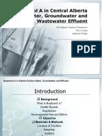 Bisphenol A in Alberta Surface Water, Groundwater2