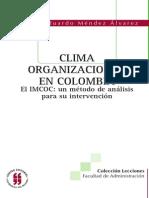 Clima Organizacional Colombia 2006 Mendez Alavarez