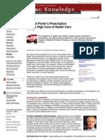Harvard Business School-Michael Porter's Prescription for High Cost of Health Care