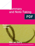 Barry, M. (2010) Summary and Note Taking (Pp.8-11) Revised Edition Cambridge-University-Press