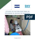 Estudio de Factabilidad Para Un Programa de Biogas Honduras 2010 (1)
