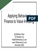 BehavioralFinance Tilson