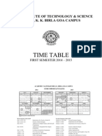 Timetable Sem-1 2014-15(30th July )