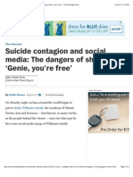 Suicide Contagion and Social Media