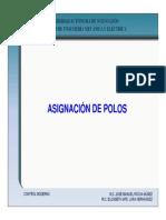 Asignacion de Polos