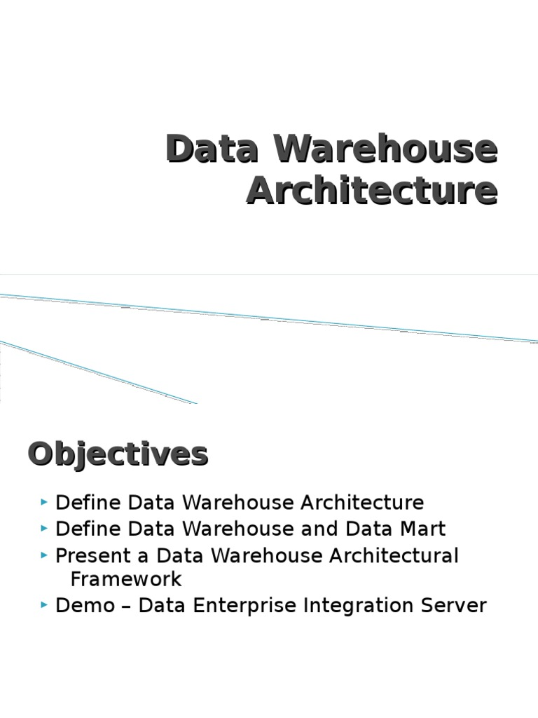 DW architecture & best practices | Data Warehouse | Scalability