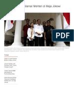 Kisah CV Unik Pelamar Menteri Di Meja Jokowi