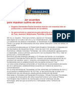 com0890 300906 Pacta Gobernador Eugenio Hernández acuerdos  para impulsar cultivo de olivo