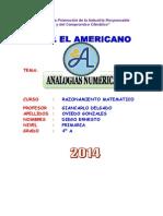 Trabajo - Analogias Numericas