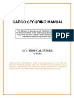 Cargo Securing Manual Mv Tropical Estoril