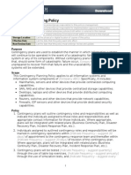 Contingency Planning Policy Template