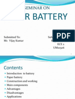 Paper Battery Seminar