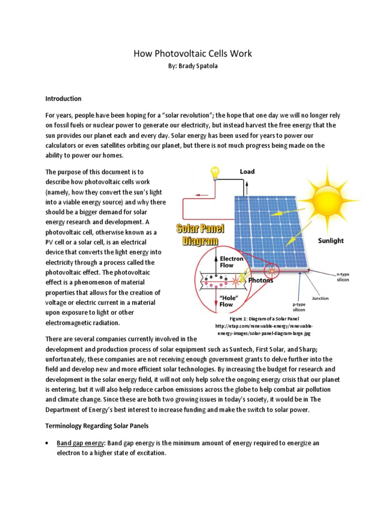 Technical Description Doping Semiconductor Photovoltaics How Solar Panels Work Diagram Panel Photovoltaic