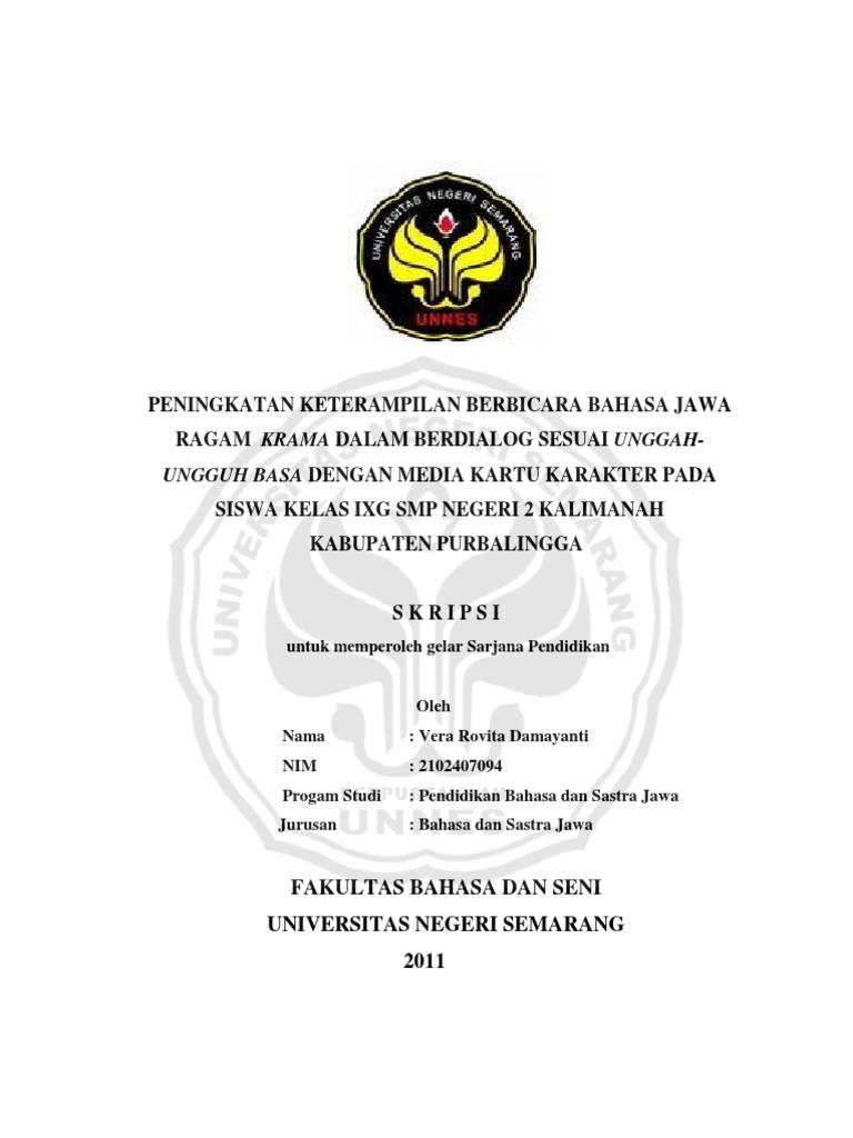 Skripsi Bahasa Jawa