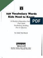 240 5th Grade Vocab Words