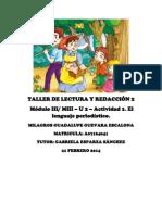 Taller de Lectura y Redacción 2 Hansel y Gretel