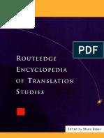 Mona Baker Encylopedia of Translation Studies