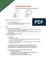 Lecture Outline- 8 - Govt Intervention
