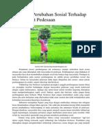 Pengaruh Perubahan Sosial Terhadap Masyarakat Pedesaan