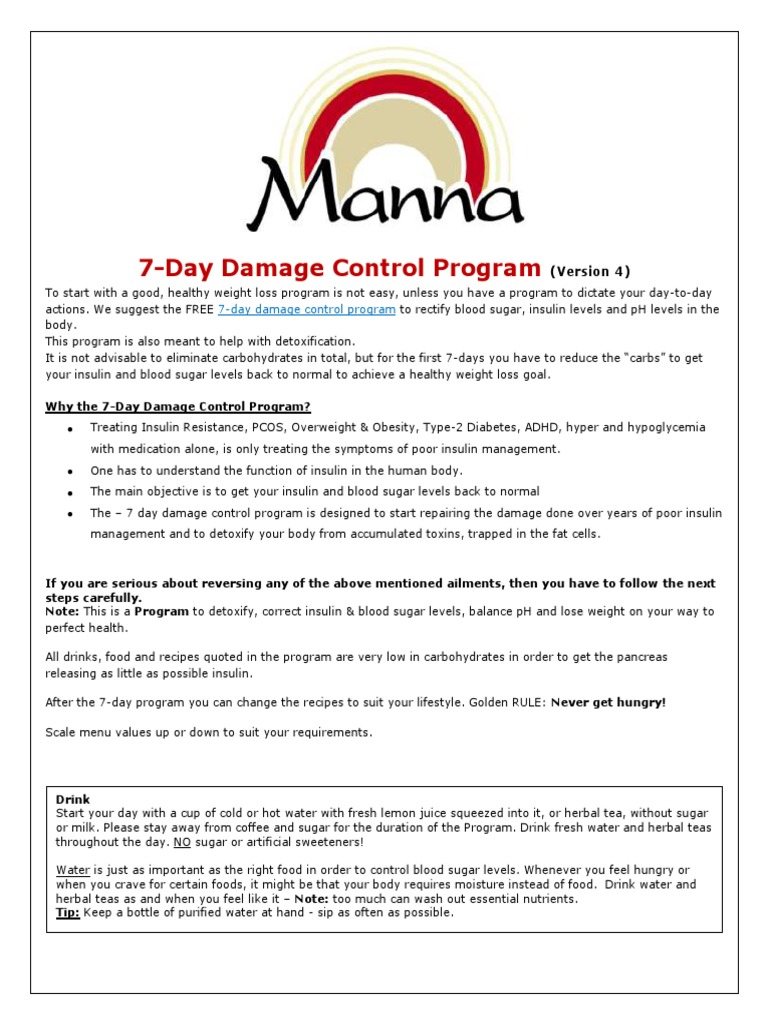 7-Day Damage Control Program | Salad | Drink