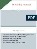 Atom Publishing Protocol