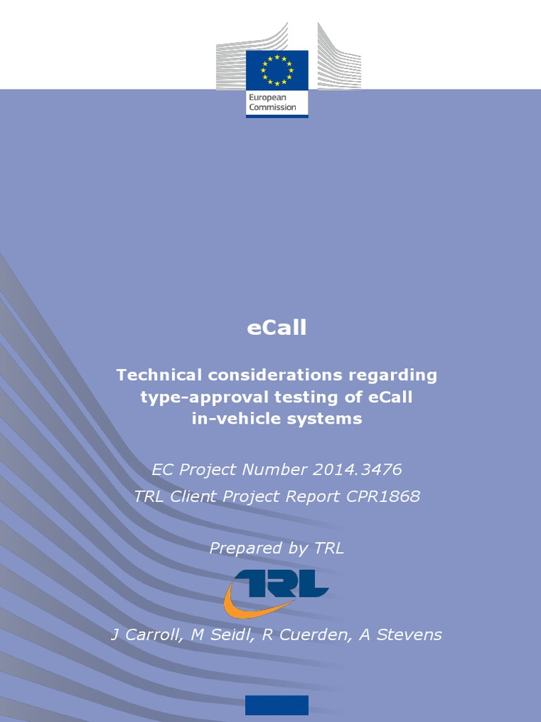 Ecall type approval trl client project report cpr1868 ecall type approval trl client project report cpr1868 information privacy privacy fandeluxe Images