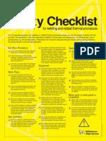 Welding Checklist