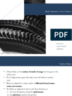 Blade Materials in Gas Turbines