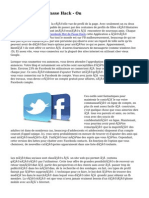 Facebook Mot de Passe Hack -  Ou
