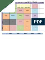timetable  planning term 2 week 2