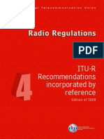 ITU Radio Regulations_ Vol IV - Recommendations Incorporated by Reference