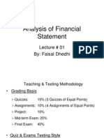 Analysis of Financial Statement Lec_0 01