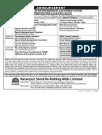 RSRM Distribution Schedule
