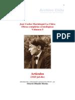 Mariátegui - Obras Completas Cronólogicas Vol. V