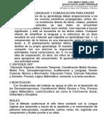 Enfoque Del Lenguaje y Comunicación Para Kinder