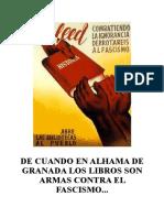De Cuando en Alhama de Granada Los Libros Son Armas Contra El Fascismo
