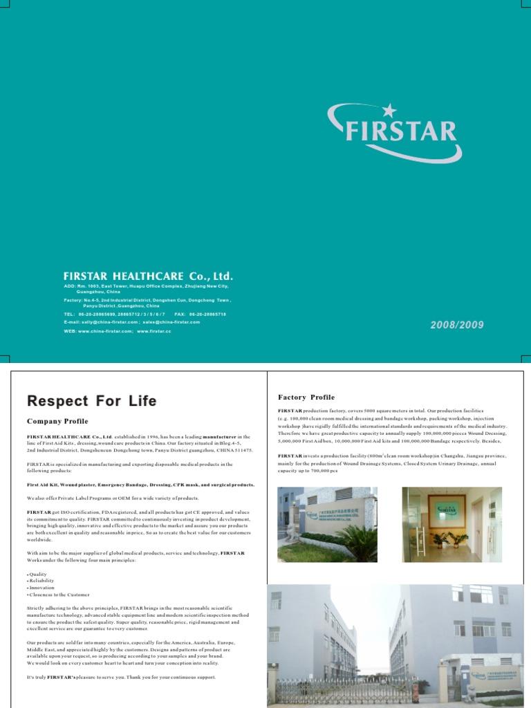 Firstar Catalog 2008-2009   First Aid   Wound