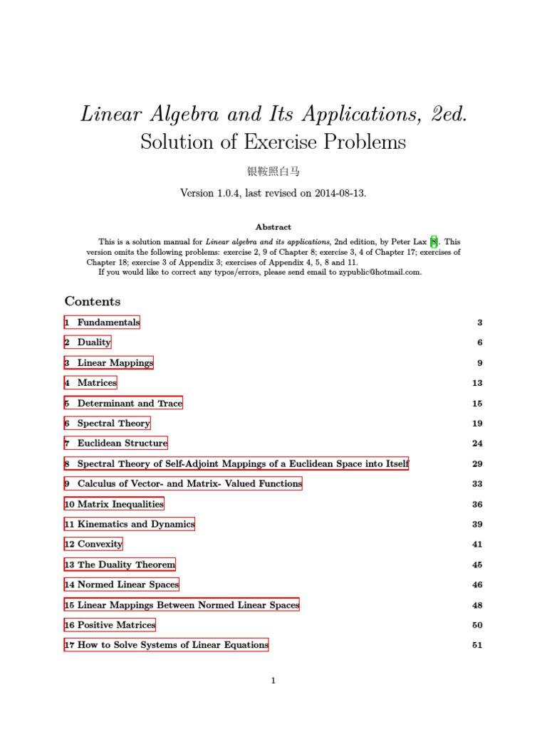 Solution Manual: Linear Algebra and Its Applications, 2ed | Determinant |  Basis (Linear Algebra)