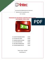 Administracion de La Seguridad en Obra, Grupo 2. Plan de Seguridad (1)