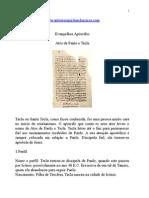 Evangelhos Apócrifos - Atos de Paulo e Tecla