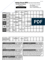 2014 Fall Schedule