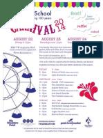 St. Helen School Carnival Aug 22 -24